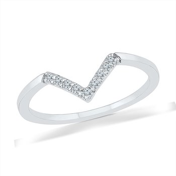Diamond V Promise Ring