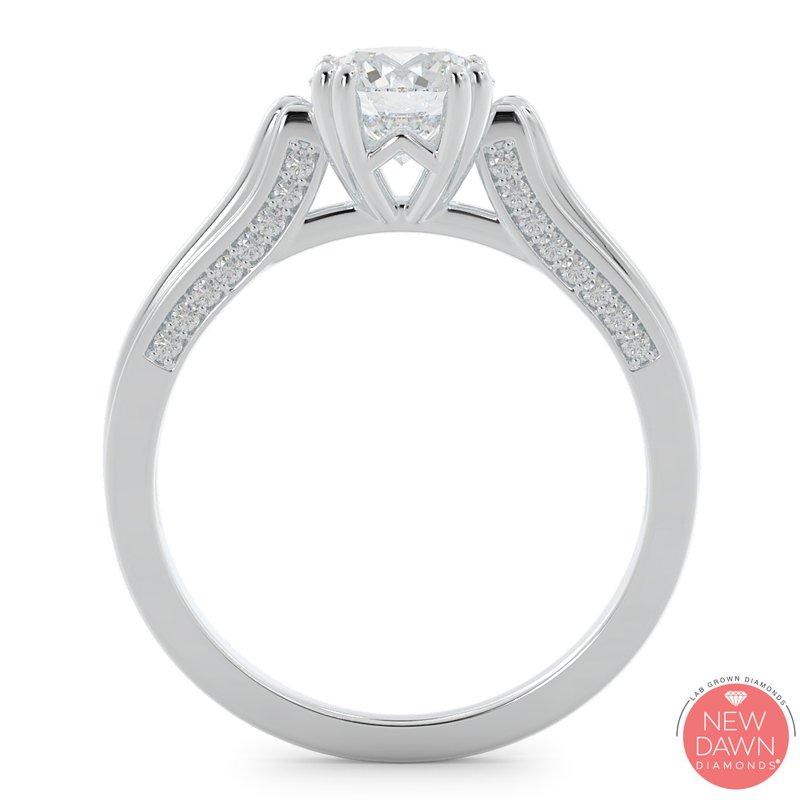 Lab Grown Diamonds Certified 1 1/4ctw Diamond Engagement Ring