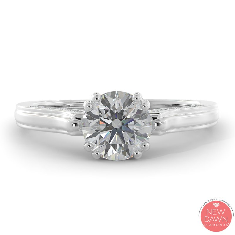 Lab Grown Diamonds Certified 1 1/4ctw Diamond Engagement Ring