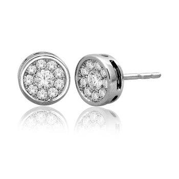 .33ctw Round Bezel Earring