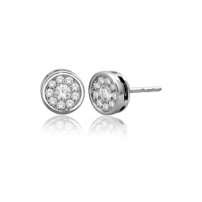 Saslow's & Henebry's Collection .33ctw Round Bezel Earring