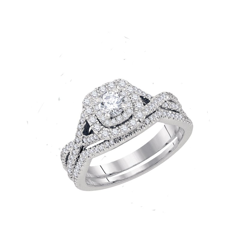 Promise Forever Certified 3/4ctw Bridal Set
