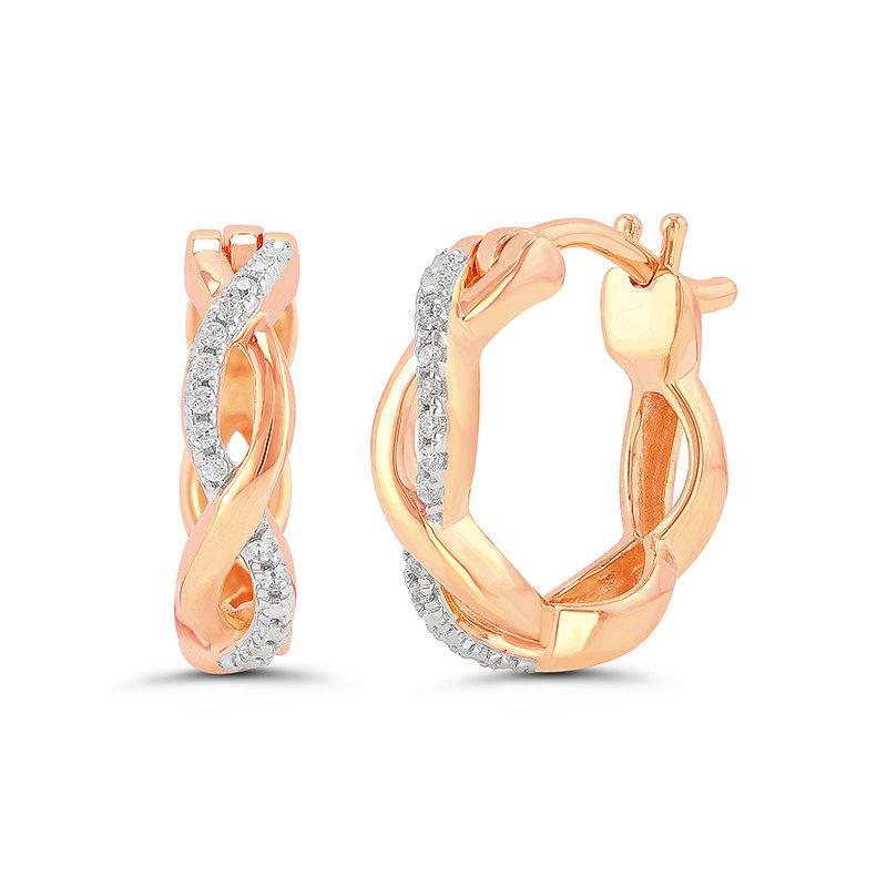 Saslow's & Henebry's Collection Pink Hoop Earrings
