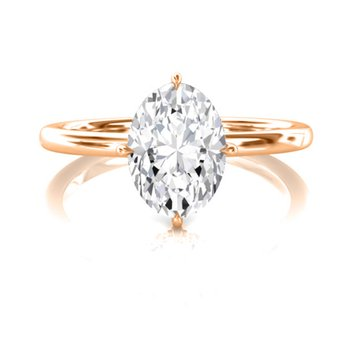 3/4 CT Oval Solitaire Engagement Ring