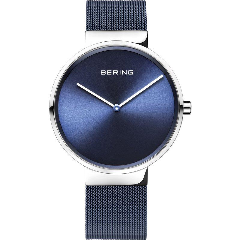 Bering  SS Case & Bracelet, Blue Bracelet & Dial