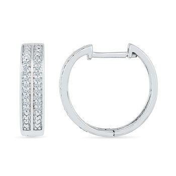 .10ctw Diamond Hoop Earrings