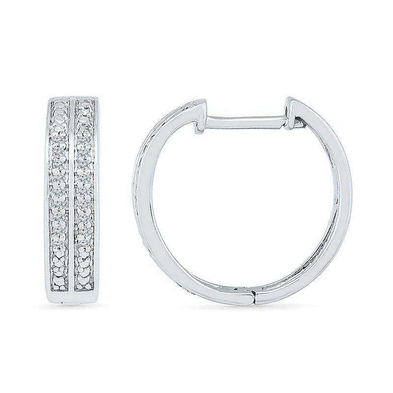 Gifts That Rock .10ctw Diamond Hoop Earrings
