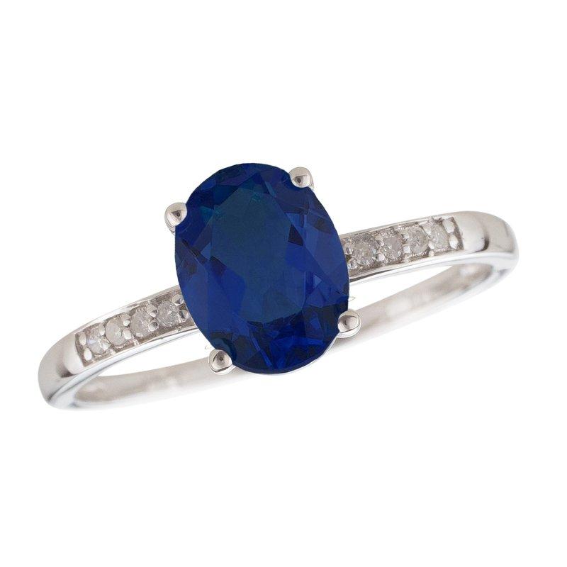 Birthstone Collection 14kw Sapphire / Diamond Rings