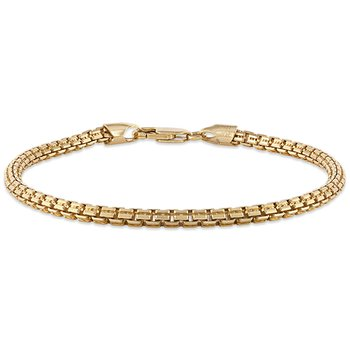 Gold and Silver Wheat Chain Bracelet