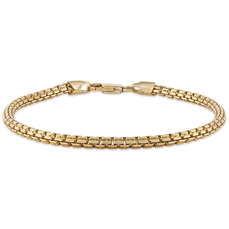 Esquire Men's Jewelry Gold and Silver Wheat Chain Bracelet