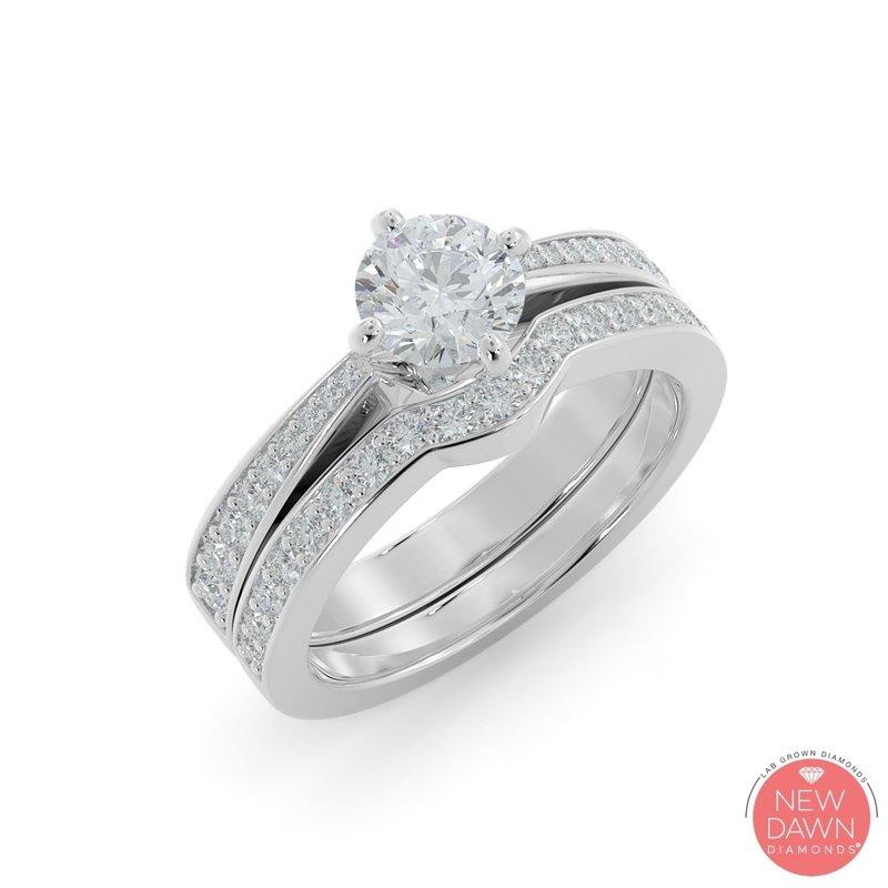 Lab Grown Diamonds 1.27 CT Diamond Bridal Set