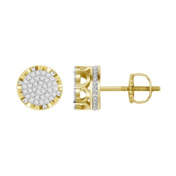 .25ctw Round Cluster Earrings