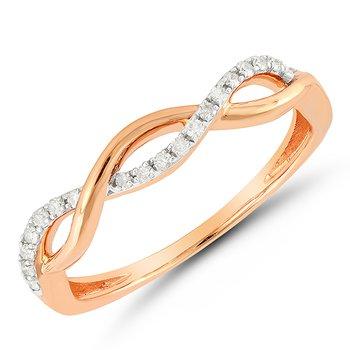 Diamond Pink Fashion Ring