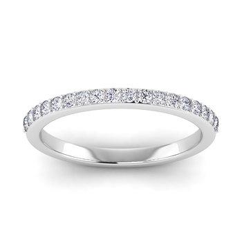 Certified 1/4ctw Diamond Matching Band