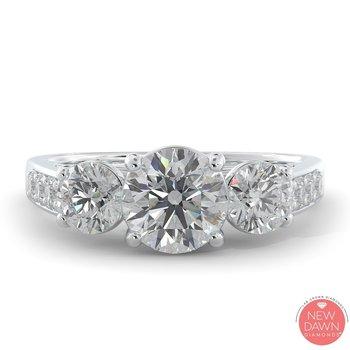 Certified 2ctw Past Present Future Lab Grown Diamond Ring