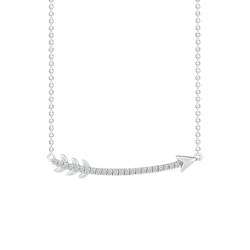 Gifts That Rock Curved Arrow Necklace