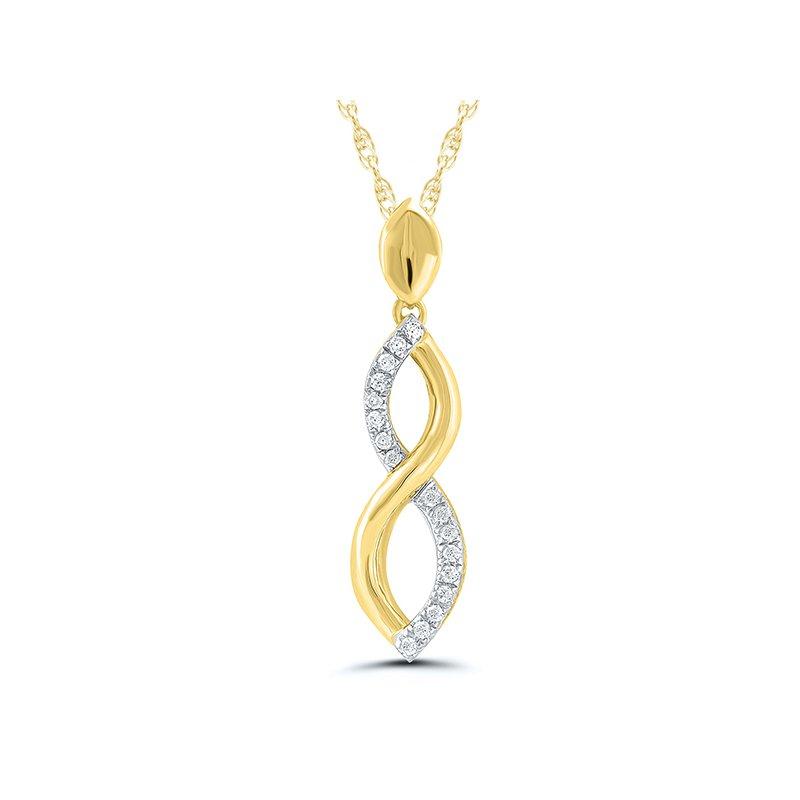 Saslow's & Henebry's Collection 10KY .05ctw Diamond Pendant