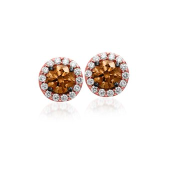Rose Gold .63 Ctw Diamond Earrings