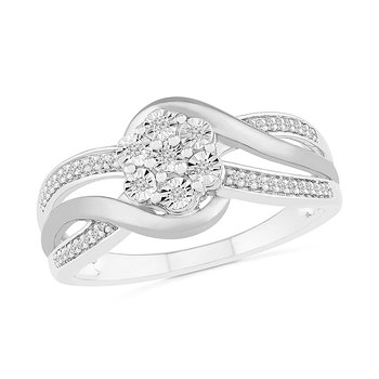 .10ctw Flower Cluster Ring