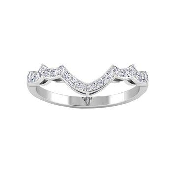 Certified 1/5ctw Diamond Matching Band