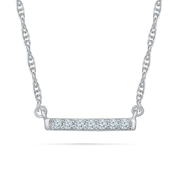.06ctw Diamond Bar Necklace