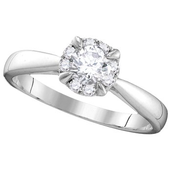 Certified 1/2ctw Engagement Ring