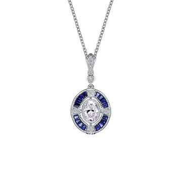 Art Deco Inspired Pendant Necklace
