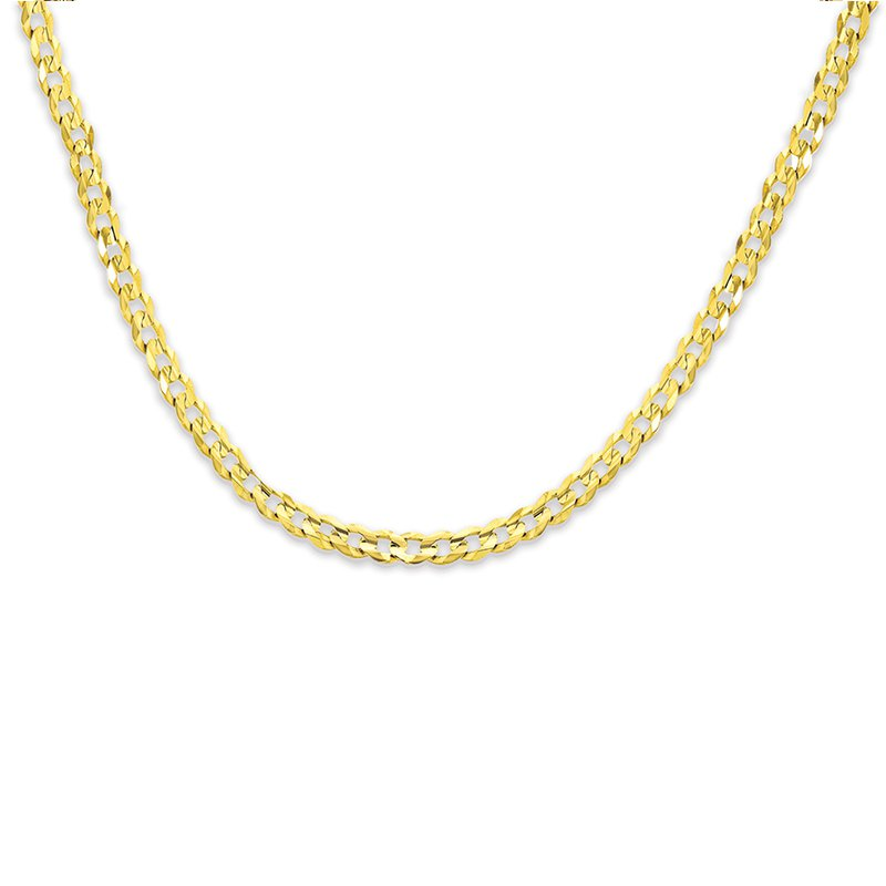 """Gold Chains and Bracelets  24"""" 7.2mm 10K Cuban Chain"""