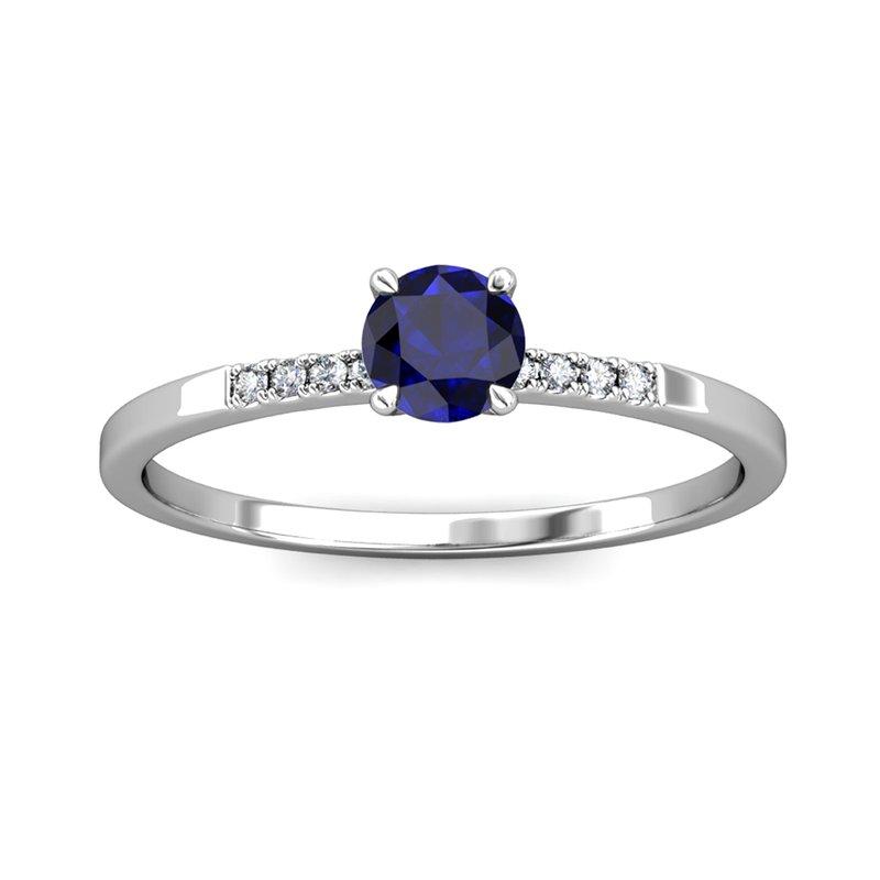 "Novell ""The Royal"" Oval Sapphire & Diamond Ring"
