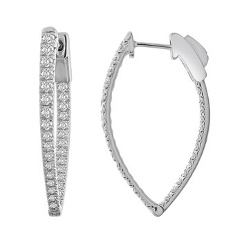 1ctw In-Out Hoop Earrings