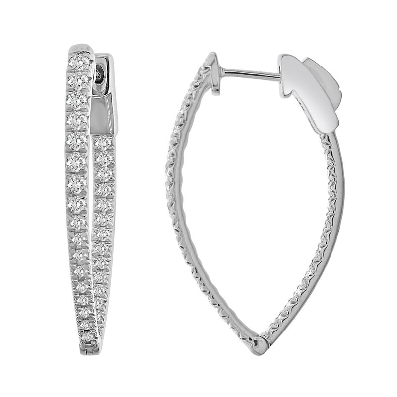 Saslow's & Henebry's Collection 1ctw In-Out Hoop Earrings