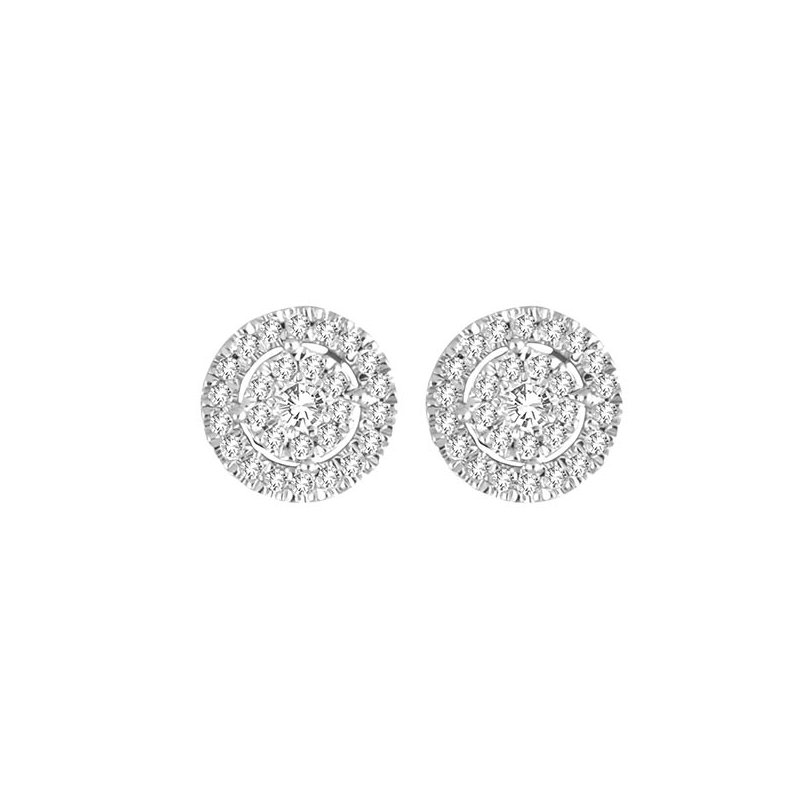 Saslow's & Henebry's Collection .25ctw Round Cluster Halo Earrings