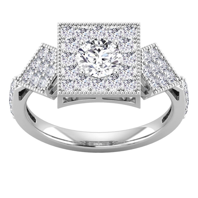 Lab Grown Diamonds Certified 1 1/5ct Diamond Engagement Ring