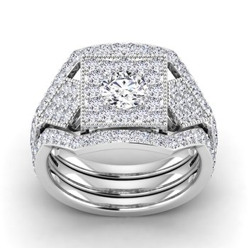 Certified 1 1/5ct Diamond Engagement Ring