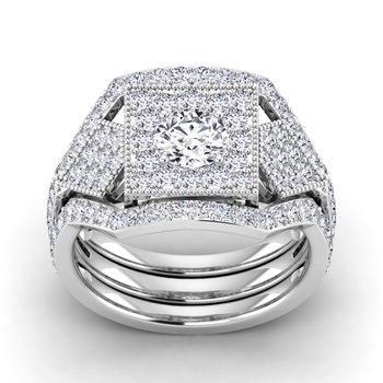 Certified 1-1/5ct Diamond Engagement Ring
