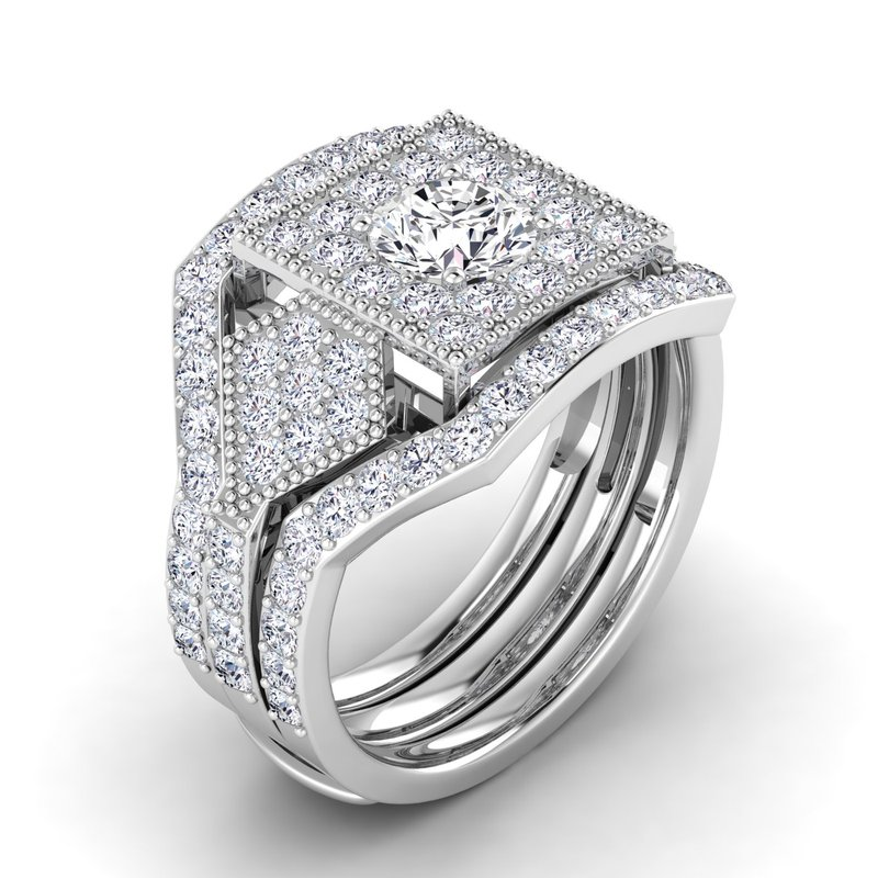 Lab Grown Diamonds Certified 1-1/5ct Diamond Engagement Ring