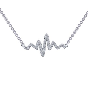 0.39 CTW Heartbeat Necklace