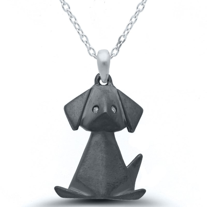 Gifts That Rock Origami Black Dog SS Necklace