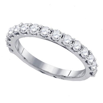 1/2ctw White Gold Prong Set Diamond Band