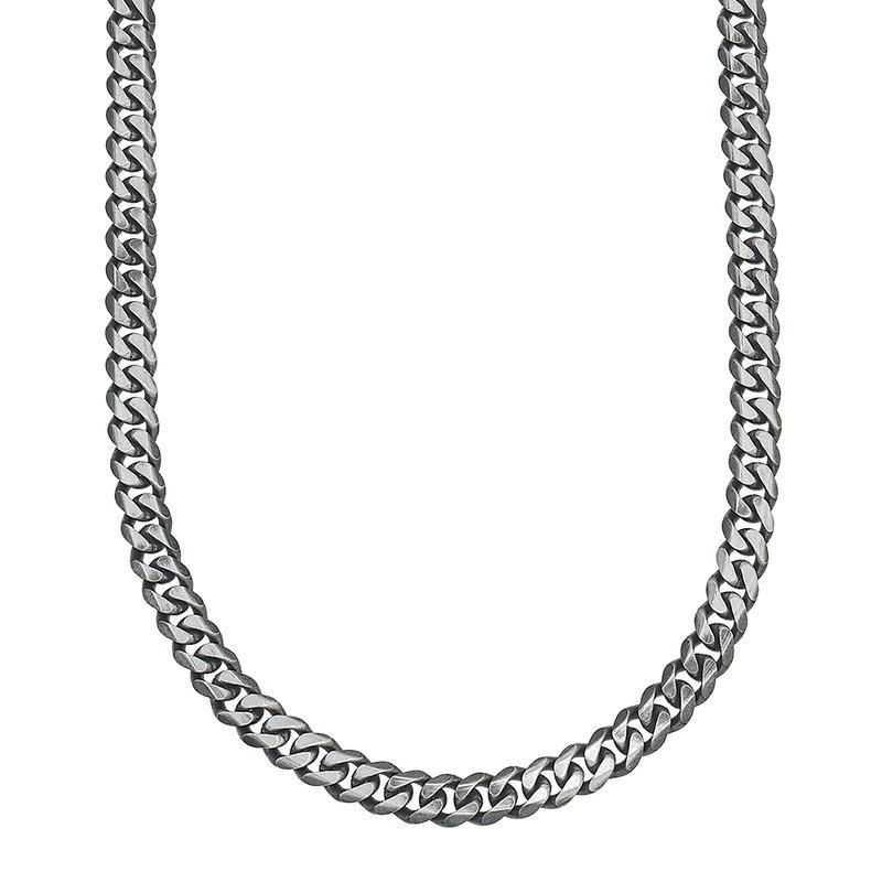 Esquire Men's Jewelry Silver Curb Chain Necklace