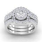 Lab Grown Diamonds Certified 1/2ctw Diamond Wedding Bands