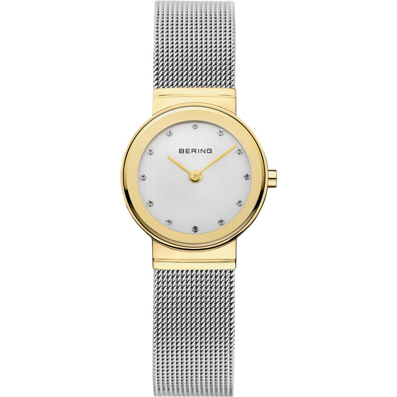 Bering  Two Tone Case & SS Bracelet & White Dial Watch