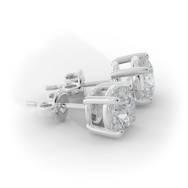 Lab Grown Diamonds 2 CT Diamond Studs