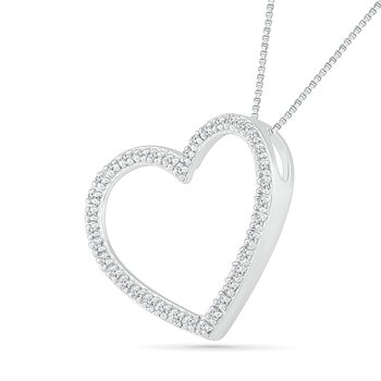 .06ctw Open Heart Necklace