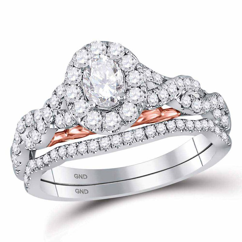 Bellissimo 1 CT-DIA 1/3CT OVAL BELLISSIMO BRIDAL RING