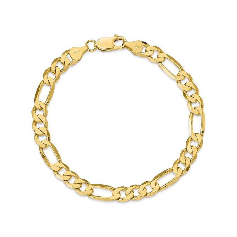 "Gold Chains and Bracelets  10ky 9"" 10mm Figaro Bracelet"