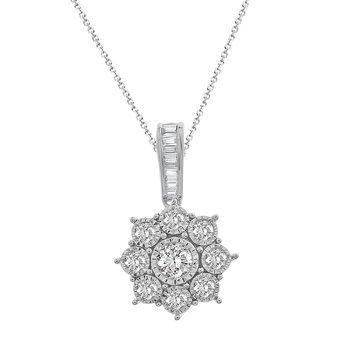 .25ct Flower Cluster Pendant