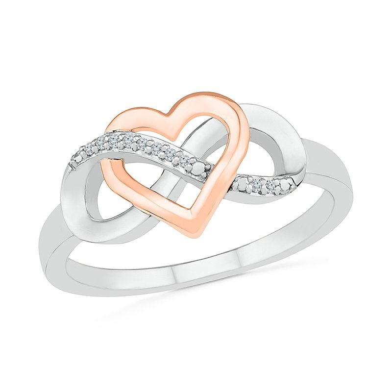 Gifts That Rock Heart Infinity Ring