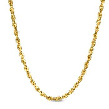 """10k 24"""" Polished Diamond Cut Necklace"""