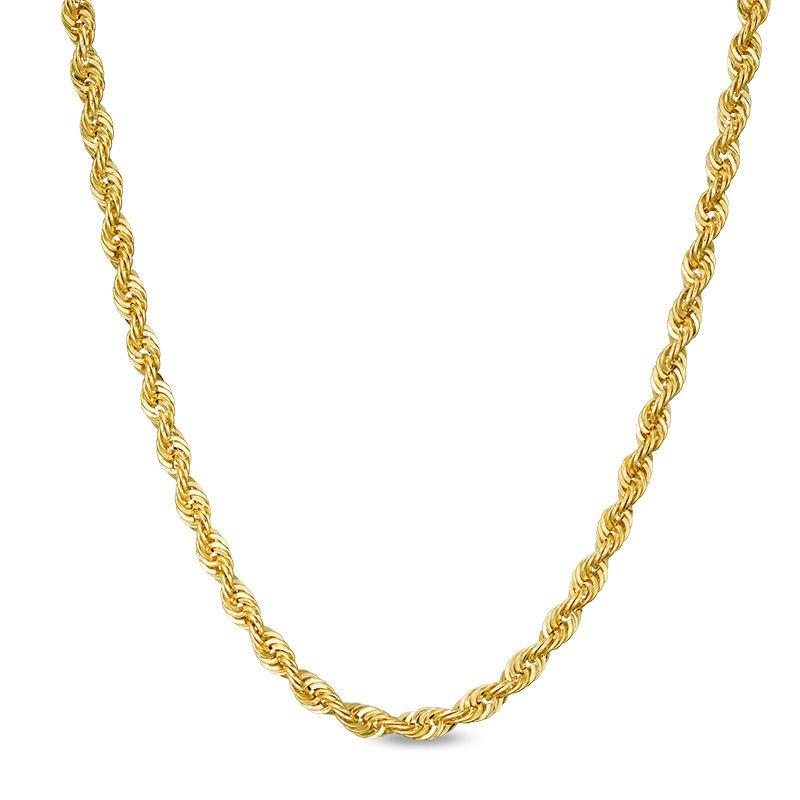 "Gold Chains and Bracelets  10k 24"" Polished Diamond Cut Necklace"